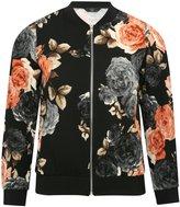 M&Co Petite floral print bomber jacket