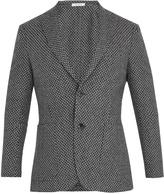 Boglioli Notch-lapel wool, cotton and cashmere-blend blazer