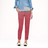 J.Crew Collection silk pant in Cubist houndstooth