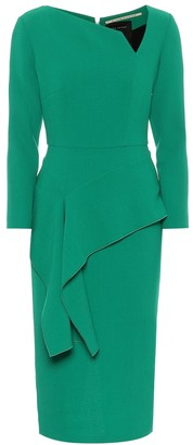 Roland Mouret Exclusive to Mytheresa Abbaye wool-crepe midi dress
