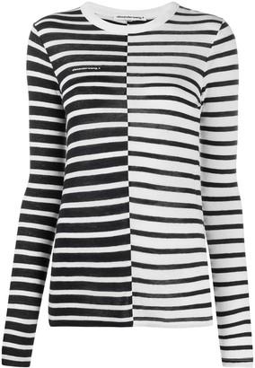 Alexander Wang long-sleeved striped T-shirt