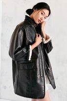 Silence & Noise Silence + Noise Eddie Oversized Vegan Leather Sherpa Coat