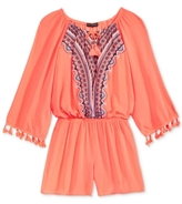 Sequin Hearts Tassel Trim Romper, Big Girls (7-16)