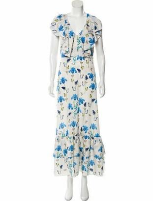 Borgo de Nor Floral Printed Sleeveless Maxi Dress