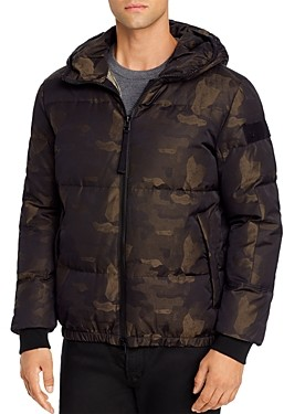 True Religion Camo Print Down Coat