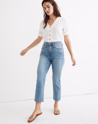 Madewell Tall Curvy Classic Straight Jeans in Meadowland Wash