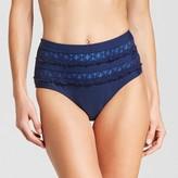 Mossimo Women's Lace Inset Cheeky Highwaist Bikini Bottom