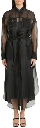Brunello Cucinelli Sheer Shirt Dress