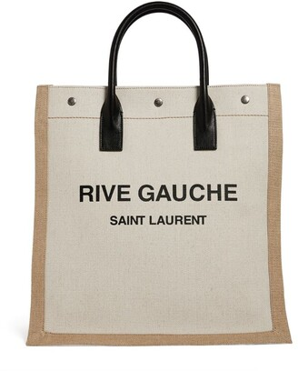 Saint Laurent Rive Gauche N/S Canvas Tote Bag