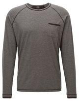 HUGO BOSS Cotton Jersey Shirt LS Shirt RN M Charcoal