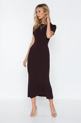 Nasty Gal Womens Come a Long Way Midi Dress - Black - 12