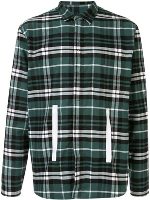 Craig Green Tape Applique Plaid Shirt