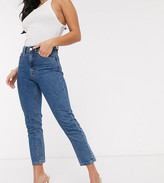 Vero Moda Petite mom jeans in medium blue