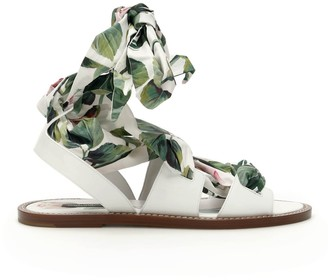 Dolce & Gabbana Ribbon Trim Sandals