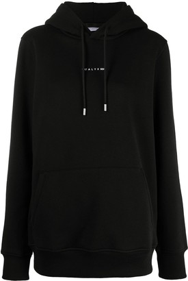 Alyx Embroidered Logo Rib-Trimmed Hoodie