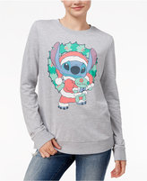 Mighty Fine Juniors' Disney Stitch Holiday Graphic Sweatshirt