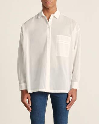 Pierantoniogasapri Off White Sheer Button Down Shirt(NEEDS TO BE RESHOT ON FEMALE)