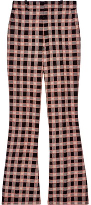 Gucci Check Print Flared Trousers