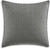 "Vera Wang Charcoal Floral Ikat Embroidered Decorative Pillow, 18"" x 18"""