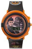 Star Wars Boy's Digital Watch with Multicolour Dial Digital Display and Blue Plastic Strap SWM3006