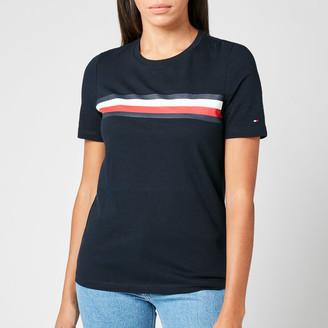Tommy Hilfiger Women's Regular Crew Neck Global Stripe T-Shirt