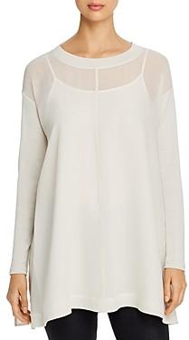 Eileen Fisher Layered Silk Tunic Top