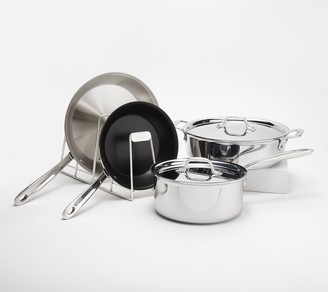 All-Clad D3 Compact Stainless Steel 6-Piece Set with Organizer