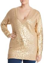 MICHAEL Michael Kors Metallic Giraffe Print Sweater