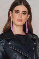 Coloured Beads Tassel Earrings