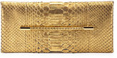 Tom Ford Metallic Python Evening Clutch Bag, Gold