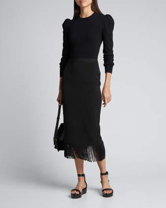 Rhode Resort Louise Fringe Midi Skirt