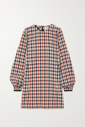 Victoria Victoria Beckham Checked Jacquard Dress - Red