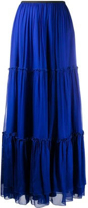 FEDERICA TOSI Tiered Long Maxi Skirt