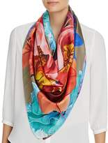 Echo Painterly Floral Silk Scarf