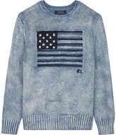 Ralph Lauren Flag knitted cotton jumper 6-14 years