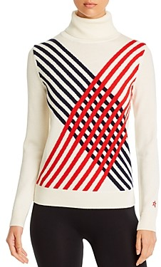 Perfect Moment Basketweave Merino Wool Sweater