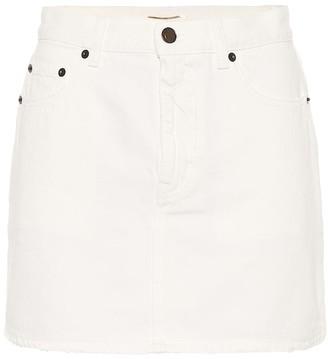 Saint Laurent Denim miniskirt