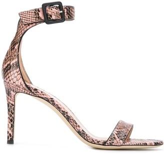 Giuseppe Zanotti snakeskin effect heeled sandals