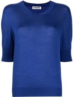Jil Sander Short Sleeve Knitted Top
