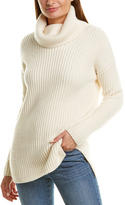 Naadam Cashmere Naadam Turtleneck Wool & Cashmere-Blend Sweater