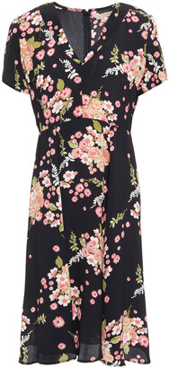 By Ti Mo Floral-print Crepe De Chine Dress