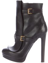 Alexander McQueen Buckle-Accented Ankle Boots