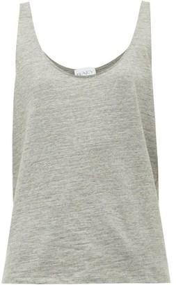 Raey Skinny-strap Cotton-jersey Vest - Grey Marl