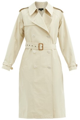 Nili Lotan Tanner Belted Cotton-blend Trench Coat - Cream
