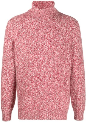 Brunello Cucinelli Roll-Neck Melange Sweater