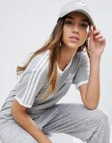 adidas Logo Cap In Gray
