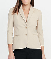 Lauren Ralph Lauren Twill Two-Button Jacket