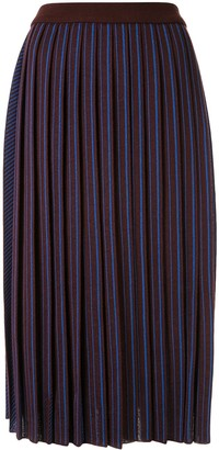 AKIRA NAKA Striped Pattern Knitted Skirt