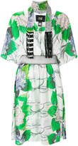 Class Roberto Cavalli floral snake print dress