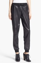 'Kacey' Leather Sweatpants